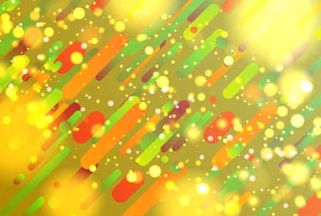 Colorful abstract background with balls and lines for advertising, vector illustration Banque d'images - 124774497