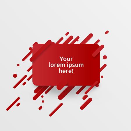 Dynamic red template for advertising, vector illustration Illustration