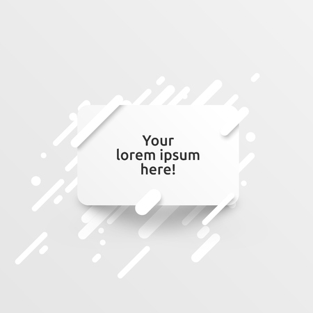 Dynamic white template for advertising, vector illustration Illustration
