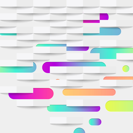 Colorful abstract background with balls and lines for advertising, vector illustration Banque d'images - 124774571