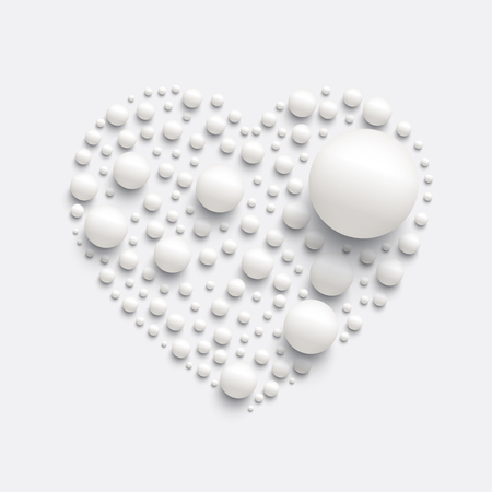 Heart made by realistic spheres