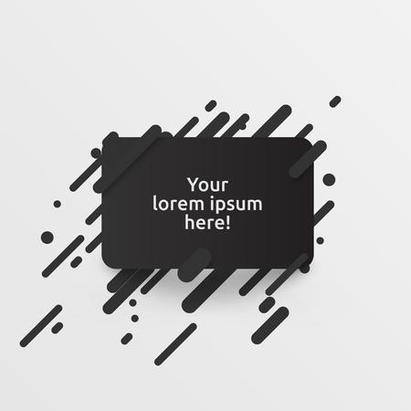 Dynamic black template for advertising, vector illustration