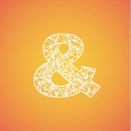 Net font from a typeset, vector font 向量圖像