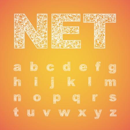 Net font typeset, vector font