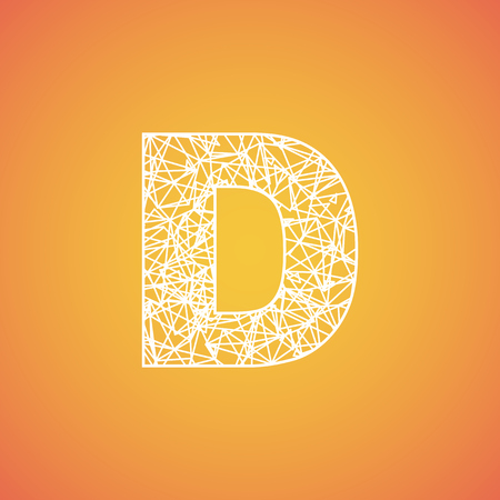 Net font from a typeset, vector font Ilustrace