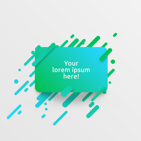 Dynamic green template for advertising, vector illustration