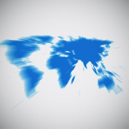 World map focusing on Asia, vector illustration 向量圖像
