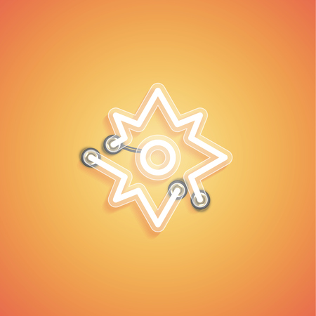 Glowing realistic neon icon for web, vector illustration Banque d'images - 124774774