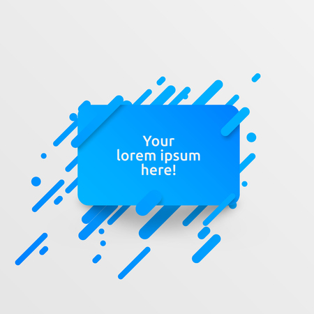 Dynamic blue template for advertising, vector illustration