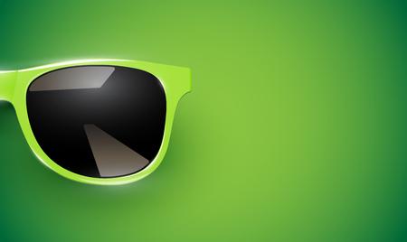 Realistic vector sunglasses on a colorful background, vector illustration Foto de archivo - 119192855