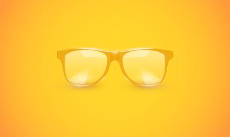 High detailed eyeglasses on colorful background, vector illustration