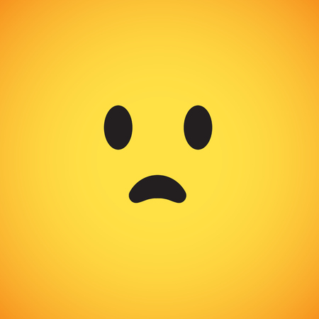 Cute yellow emoticon for web, vector illustration