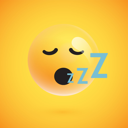 Cute yellow emoticon for web, vector illustration Ilustrace