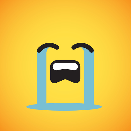 Cute yellow emoticon for web, vector illustration Ilustração