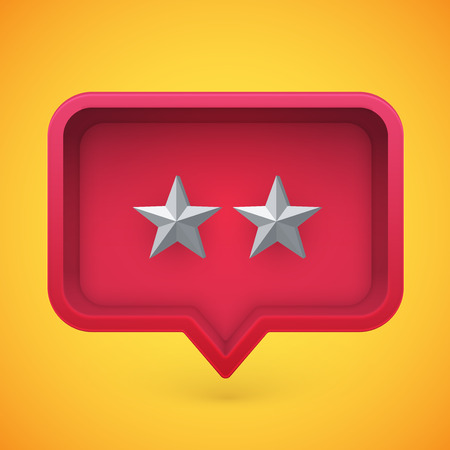 Grey rating stars in speech bubble, vector illustration Illustration