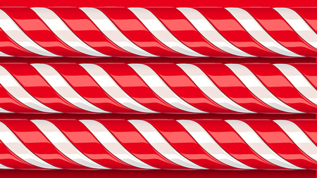 High detailed red candy cane, vector illustration Vettoriali