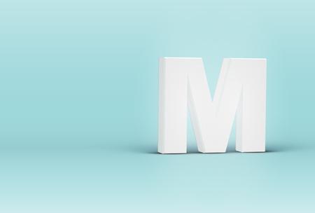 High detailed 3D font letter, vector illustration