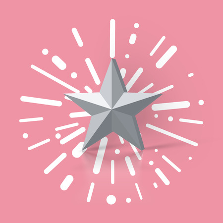Colorful illustration with a star rating, vector illustration