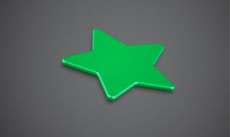 3D star rating or background, vector illustartion
