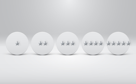 High detailed star-rating buttons, vector illustration