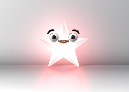 High detailed smiley star, vector illustration