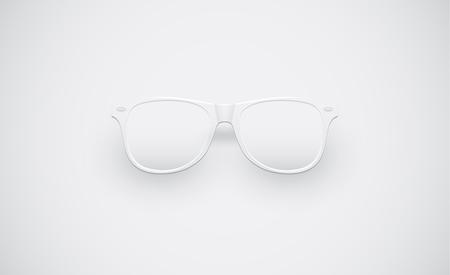 White matte sunglasses for advertisng, vector illustration Illusztráció