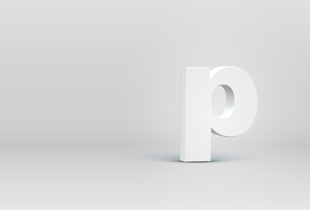 High detailed 3D font character, vector illustration