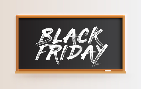 High detailed blackboard with BLACK FRIDAY title, vector illustration 向量圖像