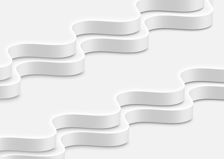 High-detailed abstract white waves, vector illustration 일러스트