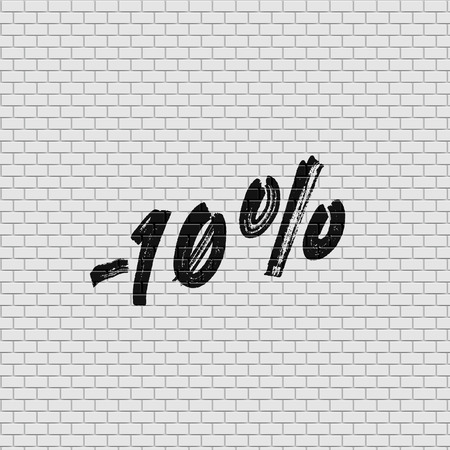 High detailed brick wall with percentage, vector illustration Stockfoto - 123124971