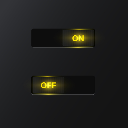 Realistic switches for web usage, vector illustration Illustration