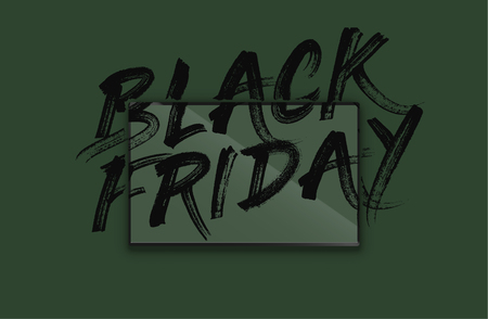 High-detailed notebook with painted 'BLACK FRIDAY' on the screen, vector illustration Stockfoto - 123125862