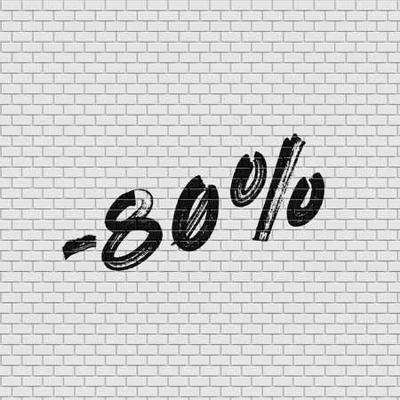 High detailed brick wall with percentage, vector illustration Stockfoto - 123125900