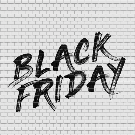 High detailed brick wall with 'BLACK FRIDAY' painting vector illustration Stockfoto - 123125906