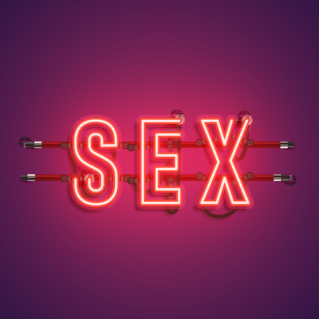 High-detailed realistic neon word, vector illustration