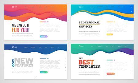 Saubere und moderne Website-Vorlage, Vektorillustration Vektorgrafik