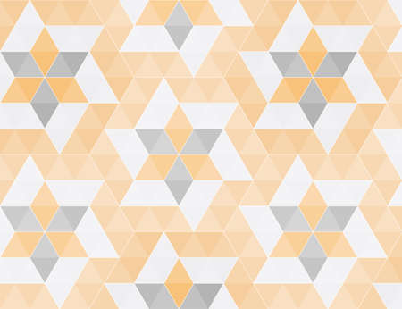 Triangle gold and gray seamless pattern, vector illustration