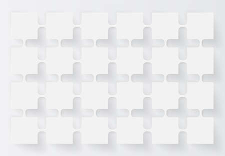 White abstract background with slight shadows, vector illustration 写真素材 - 153223185