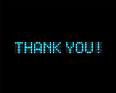'Thank you!' text written with realistic neon font, vector illustration 写真素材 - 153691400