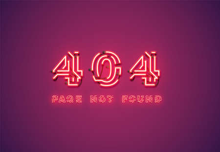'404 PAGE NOT FOUND' text written with realistic pixel font, vector illustration 写真素材 - 153691194