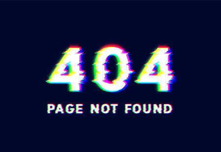 '404 PAGE NOT FOUND' text written with realistic pixel font, vector illustration 写真素材 - 153691557