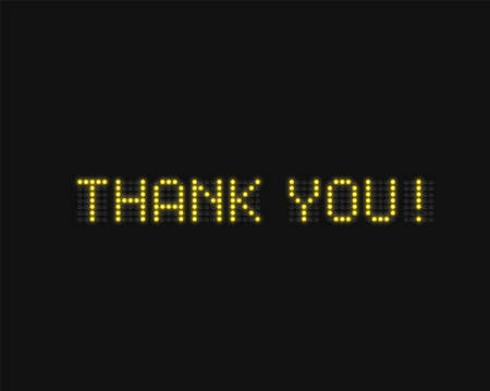 'Thank you!' text written with realistic neon font, vector illustration 写真素材 - 153691670