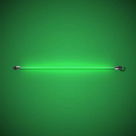 Realistic neon tube with glow, vector illustration 矢量图像
