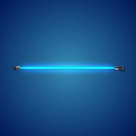 Realistic neon tube with glow, vector illustration 写真素材 - 154595189