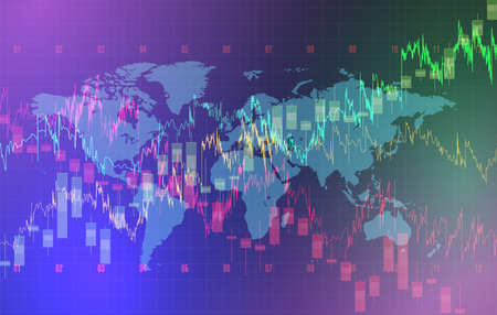 High detailed charts of growing markets, vector illustration  イラスト・ベクター素材