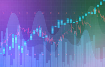 High detailed charts of growing markets, vector illustration 矢量图像