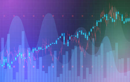 High detailed charts of growing markets, vector illustration 写真素材 - 154986914