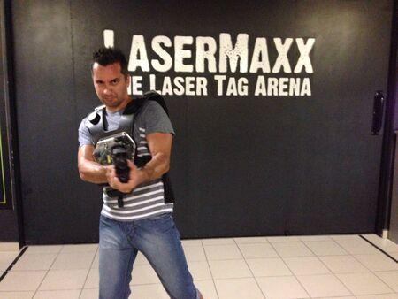 laser tag: Laser tag boy.