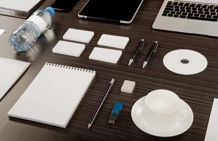 mockup: Mockup business template. High resolution. 3D reander