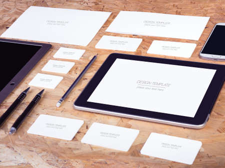 business name: Mockup business template. High resolution. 3D reander
